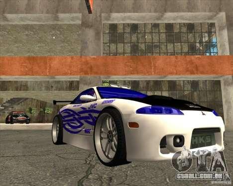 Mitsubishi Eclipse street tuning para GTA San Andreas vista traseira