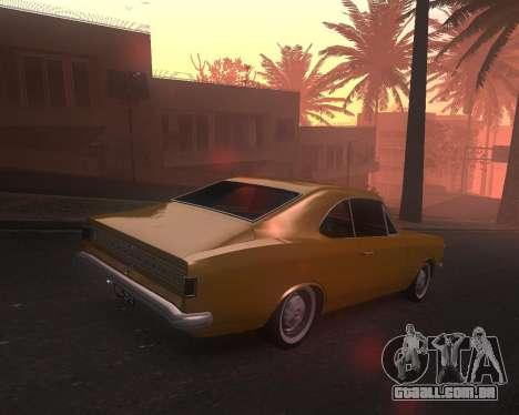 Chevrolet Opala Gran Luxo para GTA San Andreas esquerda vista