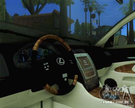 Lexus GS450h 2011 para GTA San Andreas vista direita