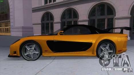 Mazda RX7 Veilside para GTA San Andreas esquerda vista