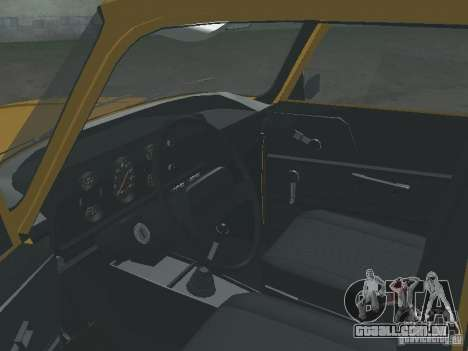 AZLK 2140 1981 para GTA San Andreas vista traseira