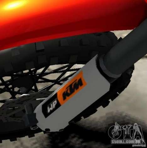 KTM EXC 450 para GTA 4 vista superior