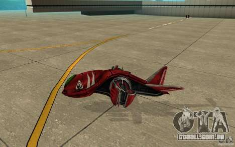 MOSKIT air Command and Conquer 3 para GTA San Andreas traseira esquerda vista