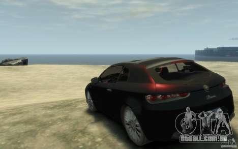 Alfa Romeo Brera para GTA 4 traseira esquerda vista
