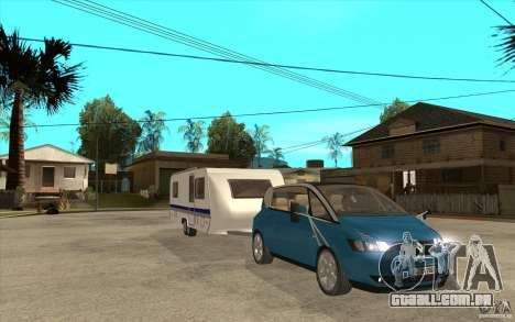 Trailer para a Renault Avantime para GTA San Andreas vista traseira