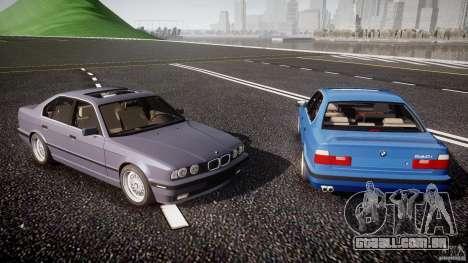 BMW 5 Series E34 540i 1994 v3.0 para GTA 4 motor