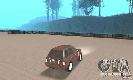 Range Rover Vogue 2004 para GTA San Andreas esquerda vista