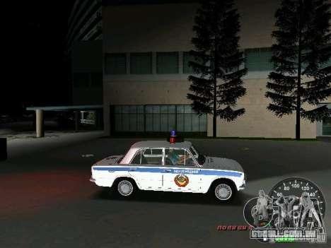 Polícia de 2101 VAZ para GTA Vice City vista interior