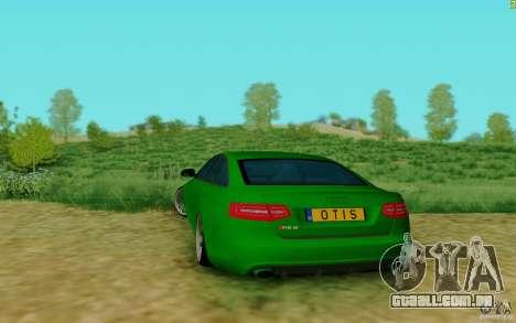 Audi RS6 OTIS para GTA San Andreas traseira esquerda vista