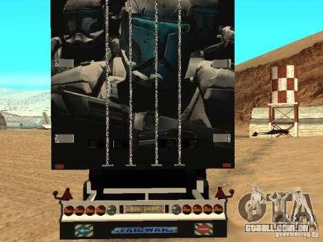 Trailer de Star Wars para GTA San Andreas traseira esquerda vista
