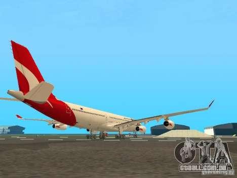 Airbus A340-300 Qantas Airlines para GTA San Andreas vista traseira