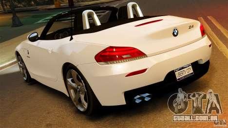 BMW Z4 sDrive 28is 2012 v2.0 para GTA 4 esquerda vista