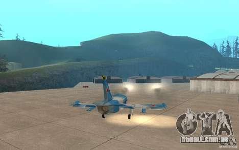 L-39 Albatross para GTA San Andreas vista superior