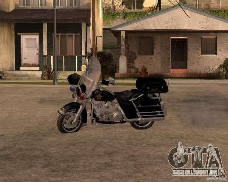 Harley Davidson Police 1997 para GTA San Andreas esquerda vista