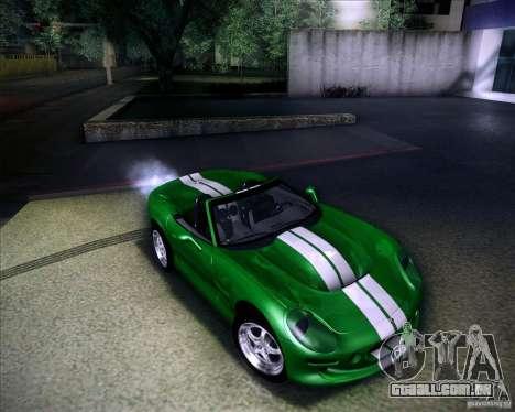 Shelby Series One 1998 para GTA San Andreas vista inferior