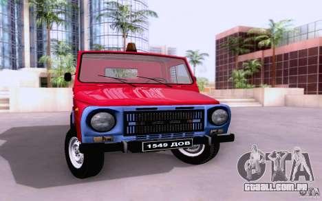 Caminhão de reboque de LuAZ 13021 para GTA San Andreas esquerda vista