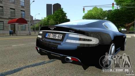 Aston Martin DBS v1.0 para GTA 4 vista de volta