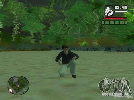 Tony Montana em uma camisa para GTA San Andreas terceira tela