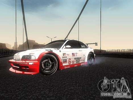 BMW M3 GTR1 para GTA San Andreas esquerda vista