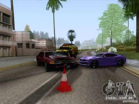 Acidente na estrada para GTA San Andreas por diante tela