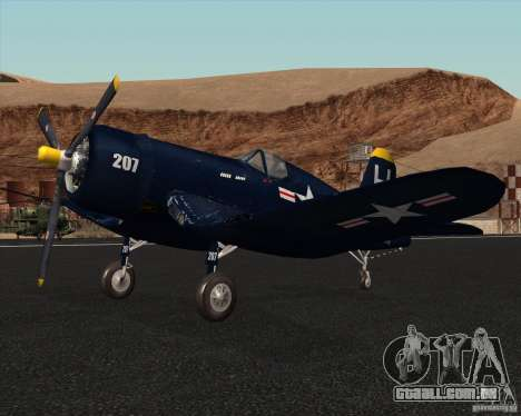 Aereo Corsair F4U1D para GTA San Andreas