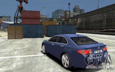 Acura TSX 2011 para GTA 4 traseira esquerda vista