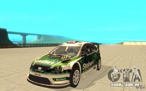 Ford Focus RS WRC 08 para as rodas de GTA San Andreas