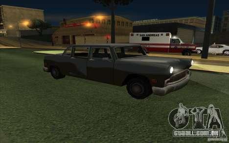 Civilian Cabbie para GTA San Andreas vista traseira