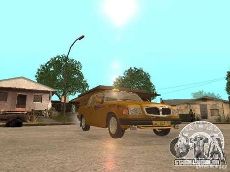 Táxi de GAZ 3110 Volga para GTA San Andreas vista superior