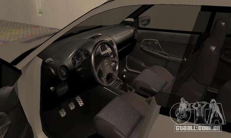 Subaru Impreza WRX Wagon para GTA San Andreas vista traseira