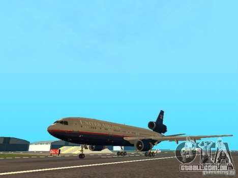 McDonell Douglas DC10 United Airlines para GTA San Andreas