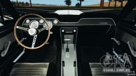 Shelby GT 500 Eleanor v2.0 para GTA 4 vista de volta