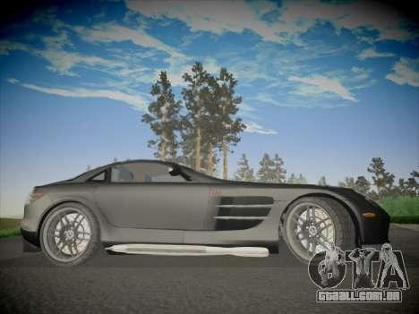 Mercedes-Benz SLR 722 Custom Edition para GTA San Andreas vista traseira