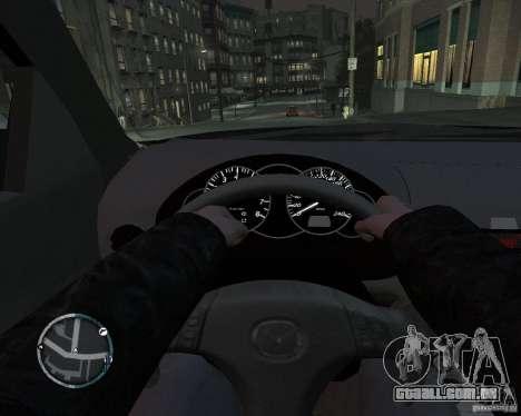 Mazda 3 Police para GTA 4 traseira esquerda vista
