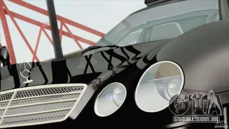 Mercedes-Benz CLK GTR Race Road Version Stock para GTA San Andreas traseira esquerda vista