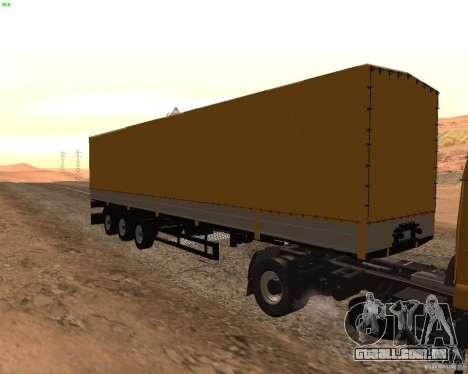 Reboque Nefaz dos caminhoneiros 2 para GTA San Andreas traseira esquerda vista