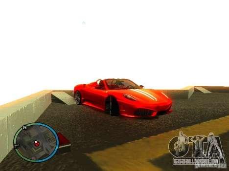 Ferrari F430 Scuderia M16 2008 para GTA San Andreas interior