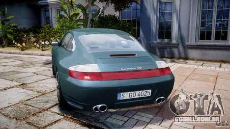 Porsche 911 (996) Carrera 4S para GTA 4 traseira esquerda vista