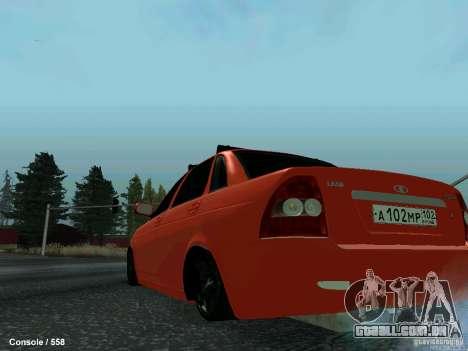 LADA 2170 102-RUS para GTA San Andreas traseira esquerda vista