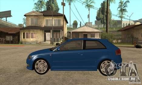 Audi S3 2007 - Stock para GTA San Andreas esquerda vista