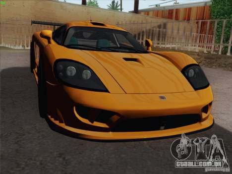 Saleen S7 Twin Turbo Competition Custom para vista lateral GTA San Andreas