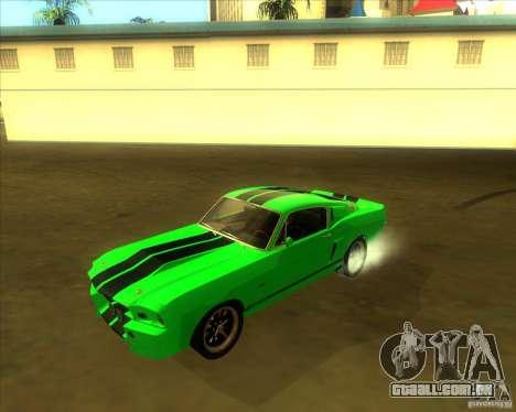 Shelby GT500 Eleanora clone para vista lateral GTA San Andreas