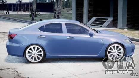 Lexus IS F para GTA 4 vista superior
