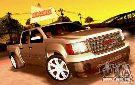 GMC Sierra 2011 para vista lateral GTA San Andreas
