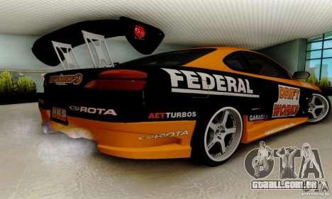 Nissan Silvia S15 Tunable para GTA San Andreas vista interior