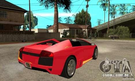 Lamborghini Murcielago LP650 para GTA San Andreas vista direita