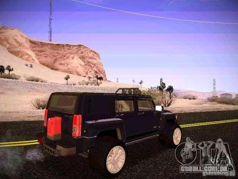 Hummer H3R para GTA San Andreas vista direita
