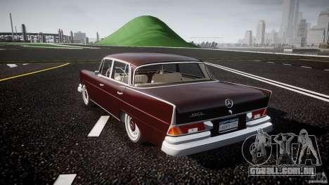 Mercedes-Benz W111 v1.0 para GTA 4 traseira esquerda vista