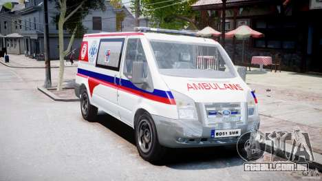 Ford Transit Polish Ambulance [ELS] para GTA 4 vista direita
