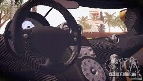 Koenigsegg CCX 2006 v2.0.0 para GTA San Andreas interior